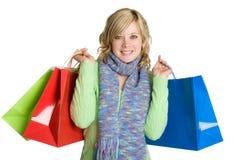 De winkelende Vrouw van Zakken Stock Foto's