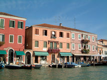 De winkels Murano van de waterkant stock afbeelding