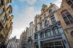 De Winkels van Brugge Stock Afbeeldingen