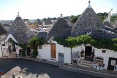 De Winkels van de Herinnering van Alberobello Royalty-vrije Stock Foto