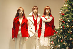 De winkelvenster van Kerstmis Stock Foto's