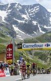 De Winnaar op Col. du Lautaret - Ronde van Frankrijk 2014 Stock Afbeeldingen