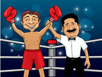 De winnaar van de bokser Stock Foto's