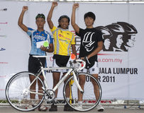 De winnaar van OCBC Cyclus Maleisië 2011 stock foto
