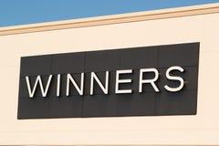 De winnaars slaan Teken op royalty-vrije stock foto
