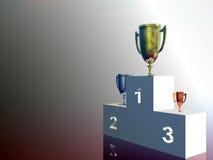 De winnaars, tribune stock illustratie
