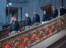 De winnaars van de 33ste overwinning van de Kop van Amerika reizen Stock Fotografie