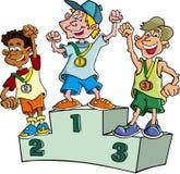 De Winnaars van jongens royalty-vrije illustratie