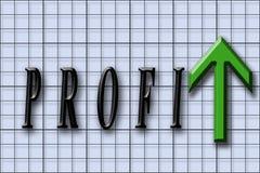 De winsten gaan uit Royalty-vrije Stock Afbeelding