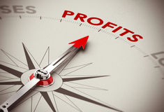 De winstengroei - maak Geld Stock Afbeeldingen
