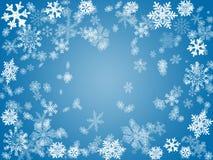 De winter 2 in blauw Stock Afbeeldingen