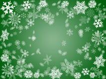 De winter 2 in groen Royalty-vrije Stock Fotografie