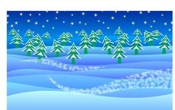 De winter. Stock Foto's