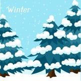 De winter achtergrondontwerp met gestileerde samenvatting Stock Foto's