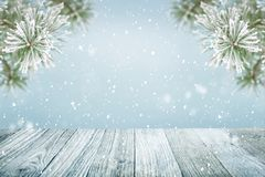 De winter achtergrondsneeuw Royalty-vrije Stock Foto's