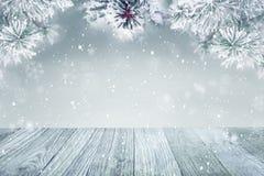 De winter achtergrondsneeuw Royalty-vrije Stock Afbeelding