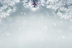 De winter achtergrondsneeuw Stock Afbeeldingen