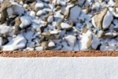 De winter achtergrondtextuur met sneeuw Stock Foto