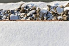 De winter achtergrondtextuur met sneeuw Royalty-vrije Stock Afbeeldingen