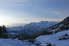 De winter in alpen Royalty-vrije Stock Foto