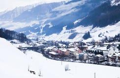 De winter in alpen Stock Afbeelding