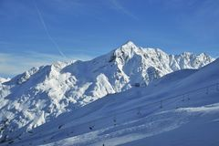 De winter alpes Stock Fotografie