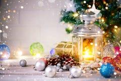 De winter background Nieuwjaar` s speelgoed Gelukkig Nieuwjaar en Vrolijke Kerstmis Royalty-vrije Stock Afbeelding