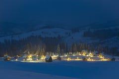 De winter in berg Stock Afbeelding