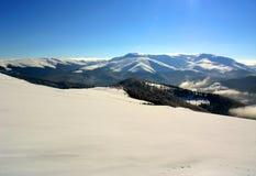 de winter berg Stock Afbeeldingen