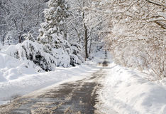 De winter berijpt landschap Royalty-vrije Stock Afbeeldingen