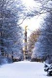 De winter in Berlijn Stock Foto's