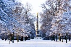 De winter in Berlijn Stock Fotografie