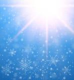 De winter bevroren achtergrond stock illustratie