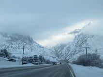 De winter bij de Canion Royalty-vrije Stock Afbeeldingen