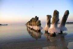 De winter bij de kust Royalty-vrije Stock Afbeeldingen