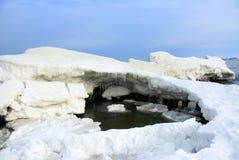 De winter bij de kust Royalty-vrije Stock Afbeelding