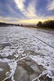 De winter bij de Rivier Oder Royalty-vrije Stock Afbeelding