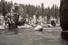 De winter bij het Park van de Rivieroeverstaat in Washington Stock Afbeeldingen