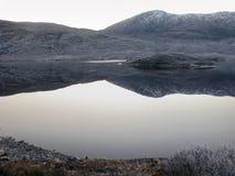 De winter bij Nauwe vallei Garry, Schotland Royalty-vrije Stock Afbeeldingen