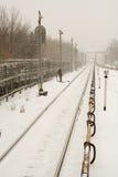 De winter bij stad royalty-vrije stock afbeelding