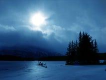 De winter in blauw Stock Fotografie