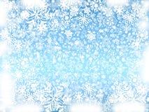 De winter in blauw Stock Afbeeldingen