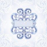 De winter blauwe achtergrond Royalty-vrije Stock Foto