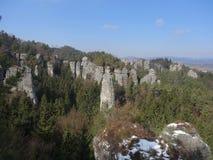 De winter in Boheems paradijs, Tsjechische republiek Royalty-vrije Stock Afbeelding
