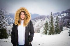 De winter in Brasov Stock Afbeeldingen