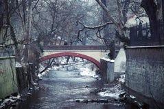De winter brige Stock Fotografie