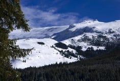De winter in Bucegi Stock Afbeelding