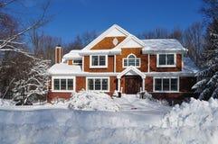 De winter in Burbs Stock Fotografie
