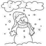 De winter - bw illustratie Royalty-vrije Stock Afbeelding