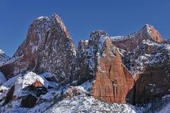 De winter, Canions Kolob royalty-vrije stock foto's